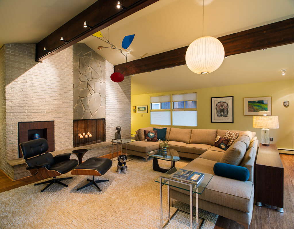 ... installed LED track lighting and designed built-ins inspired by Mid- Century design. Period furniture artwork and accessories added the finishing ... & Mid-Century Modern azcodes.com